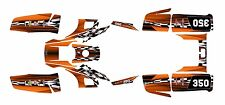 Yamaha Warrior 350 Graphics Decal kit #2500-Orange Free Custom Service
