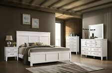 New Classic Furniture Andover White Queen 6 Piece Bedroom Set