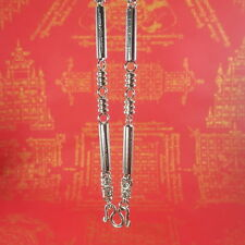 """Necklace Amulet Holy Thai Buddha Chain Silver Yunt 5 Row Stainless Steel Hook28"""""""