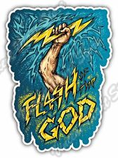 "Flash Of The God Zeus Thunder Olympus Mount Car Bumper Vinyl Sticker Decal 4""X5"""