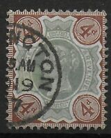 SG205  4d.Green & Purple-Brown. Very Fine Used. Cat.£15.  Ref:0659
