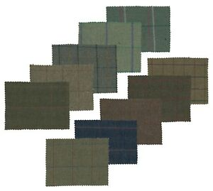 Walker and Hawkes - Tweed Fabric Cloth 60% Wool Checkered