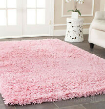 5x7 Area  Rug  Shaggy  SHAG  with SILK  2 inch Plus  Thick & Heavy  Pink  NEW