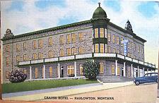 Montana Postcard Graves Hotel Harlowton Mont 1957 Lilacs Linen Liberty Stamp