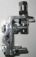 New - 3 way aluminum mirror mount bracket w SO-239 stud for CB radio antennas