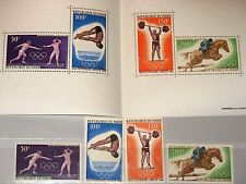 NIGER 1968 189-92 Block 5 C90-C93a Olympics Mexico Fencing Weight Lifting MNH