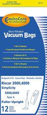 12 Riccar Carpet Pro Anti-Bacterial Upright Vacuum Bags