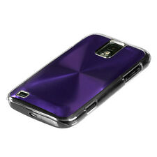 SAMSUNG GALAXY S2 T989 T-MOBILE BRUSHED ALUMINUM PLATE ACRYLIC CASE PURPLE