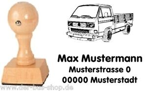 VW Bus T3 - Pritsche - Motiv-Holz-Stempel - mit Wunschtext