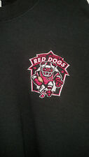 UNIQUE  AFL ARENA FOOTBALL NEW JERSEY RED DOGS HEAVY WEIGHT BLACK SWEATSHIRT