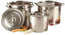 Brand New Set Of 4 Stainless Steel Deep Stock Pots