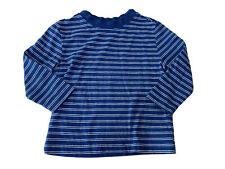 Nautica Baby Boy 12 Month Long Sleeve Blue Striped T-shirt Casual Lightweight
