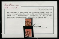 FRANCOBOLLI - 1853 PARMA C.15 VERMIGLIO E/2528