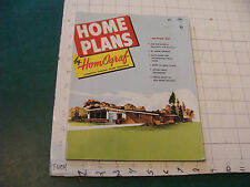 original MID-CENTURY MODERN: HOME PLANES by HomOgraf edition 955; 1955; 64pgs