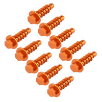Universal Orange Anodized Tapping Screw Bolt for KTM dirt bike motorcycles Alu.