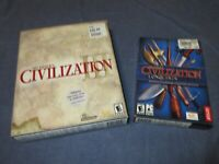 Sid Meier's CIVILIZATION 3 III PC Game CD-Rom Big Box + CONQUESTS Expansion