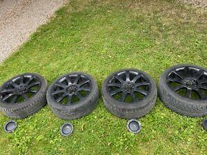 """black 18""""inch vw/audi alloys with tyres"""