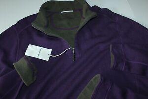 Tommy Bahama Sweater Half Zip Flipshore Reversible Purpl ST225423 Extra Large XL