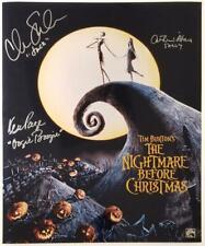 Nightmare Before Christmas Cast (3) signed 16x20 Photo Sarandon O'Hara ~NBC Holo