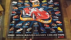 Target 1998 30th Anniversary Hotwheels Collection Poster '96 VW Bus-'57 Chevy...