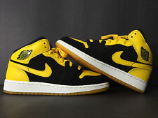 2007 NIKE AIR JORDAN I 1 RETRO NEW LOVE BMP BLACK YELLOW YOUTH 6 WOMEN 7.5 5.5 5