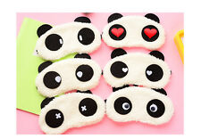 Cute Giant Panda White Suede Sleep Masks Lightweight Eyeshade Travel Eye Masks