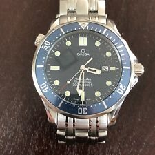 Men's Omega Seamaster Professional 300M 2541.80 Blue Wave BOND Quartz 41mm Watch