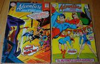 ADVENTURE COMICS SUPERBOY AND LEGION  SUPER HEROES #365 VG, #368 FN+ ADAMS COVER