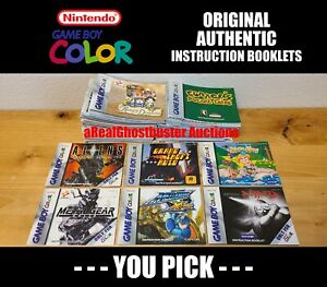 Authentic Nintendo Game Boy Color Instruction Booklet Manuals - You Pick! GBC