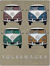 Volkswagen Campers Vintage Quad metal sign  400mm x 300mm (rh)