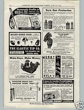 1941 PAPER AD F W Stewart Key Cutting Making Machine