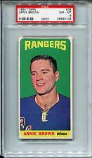 1964 Topps #34 Arnie Brown PSA 8 NM-MT New York Rangers