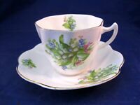 VINTAGE ENGLISH CASTLE TEA CUP AND SAUCER - MADE IN STAFFORDSHIRE ENGLAND