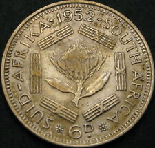 SOUTH AFRICA 6 Pence 1952 - Silver - VF - 3761 ¤