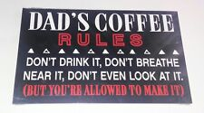 Dad's Coffee Rules Wooden Plaque Fathers Day Gift