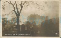 Edinburgh Castle From Greyfriars 1929 Postmark Real photo
