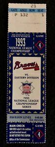 1993 NLCS Atlanta Braves v  Philadelphia Phillies Game 4 Ticket Stub
