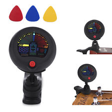 Clip-on Chromatic Tuner&Metronome: Acoustic/Electric Guitar Bass Ukulele Violin