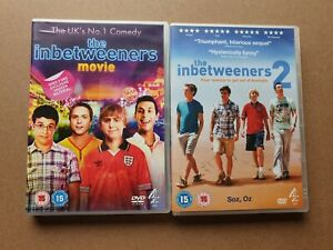 The Inbetweeners Movie (DVD, 2011) and Inbetweeners 2 (DVD, 2014) lot.