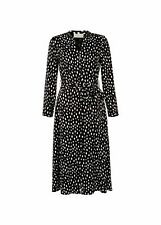 Hobbs Spotted Ginnie Dress Midi Fit & Flare Dress 3/4 Sleeve