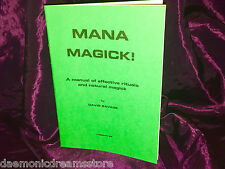 Mana Magick! Finbarr occulte magie Magick Blanc grimoire sorcellerie Noir