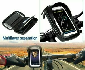NEW!360° Bicycle Motor Bike Waterproof Phone Case Mount Holder All Mobile Phones