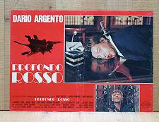 PROFONDO ROSSO fotobusta poster Dario Argento Hemmings Thriller Horror AU37