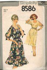 8586 Vintage Simplicity Sewing Pattern Misses Pullover Dress OOP SEW 1970's 10