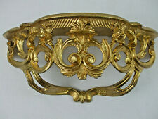 Gold Wall Shelf Mirror Console Hollywood Regency Poly Resin Made in Italy 16""
