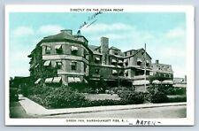 Vintage Postcard Green Inn Narragansett Pier RI Unposted a10