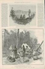 1891 antica stampa-Cina occidentale Tibet PRATT Viaggi montagna di frontiera (215)