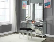 Acme Furniture Lotus Vanity Desk and Lighted Mirror Set
