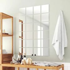 Square Wall Mirror Tiles Set 24 Frameless Glass Mirrors Tile Decor With Stickers