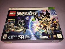 LEGO DIMENSIONS STARTER PACK X-BOX 360 BATMAN 269 PIECES #71113 **BRAND NEW**